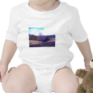 Far Away Horse in a Purple Field T-shirts