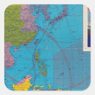 Far East, Mediterranean Area Square Sticker