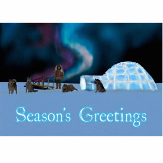 Far North Christmas - Season's Greetings Photo Sculpture Magnet