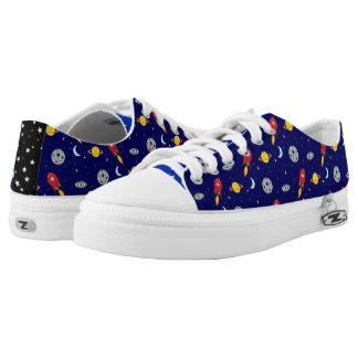 Far Out Cosmic Plaid Patern from Space Low Tops