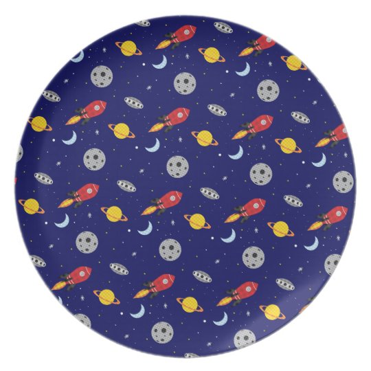Far Out Cosmic Plaid Patern from Space Plate