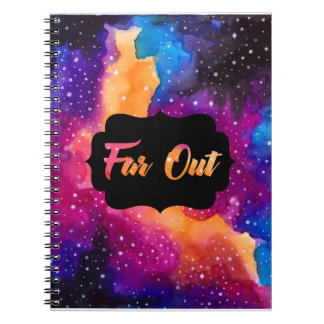 Far Out Cosmic Sky Spiral Notebook