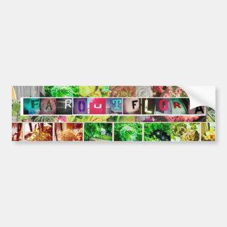 Far Out Flora Bumper Sticker