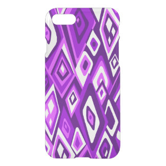 Far Out Retro Abstract Psychedelic - Purple iPhone 7 Case