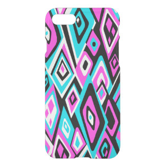 Far Out Retro Abstract Psychedelic - Turq & Pink iPhone 7 Case