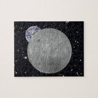 Far Side of the Moon Earth Starry Sky Puzzle