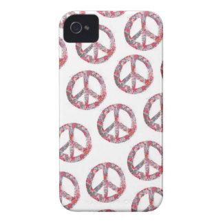Far Too Pretty Floral Peace Symbols iPhone 4 Case-Mate Cases
