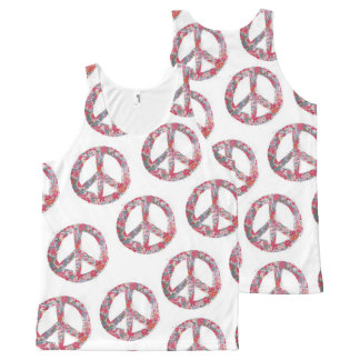 Far Too Pretty Peace Symbol Tank