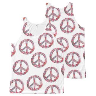 Far Too Pretty Peace Symbol Tank All-Over Print Tank Top