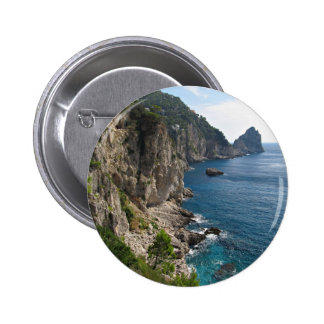 Faraglioni Rock formation on island Capri Pinback Button