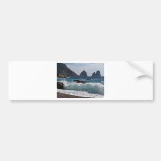 Faraglioni Rock formation on island Capri Bumper Stickers