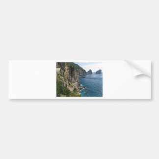 Faraglioni Rock formation on island Capri Bumper Sticker
