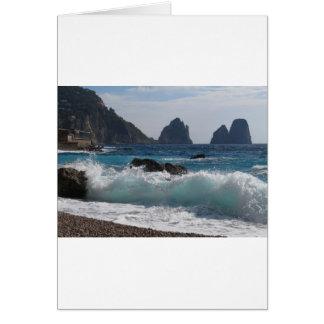 Faraglioni Rock formation on island Capri Greeting Cards