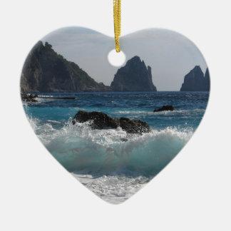 Faraglioni Rock formation on island Capri Christmas Ornament