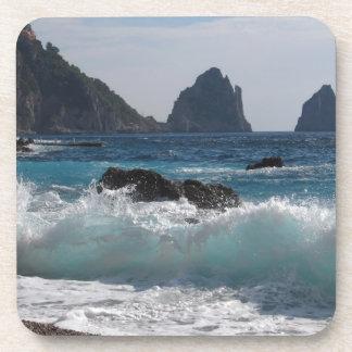Faraglioni Rock formation on island Capri Drink Coasters