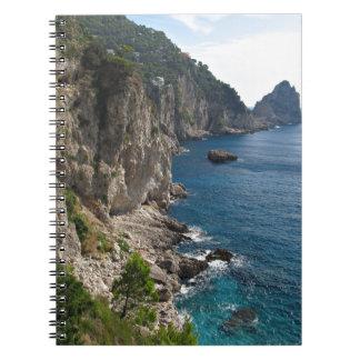 Faraglioni Rock formation on island Capri Spiral Note Books
