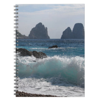 Faraglioni Rock formation on island Capri Spiral Notebooks