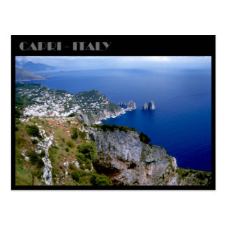 Faraglioni Rocks and Sorrento peninsula, Capri Postcard