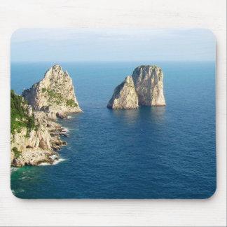 Faraglioni stacks Capri Italy Mouse Pads