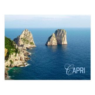 Faraglioni stacks Capri Italy Post Card