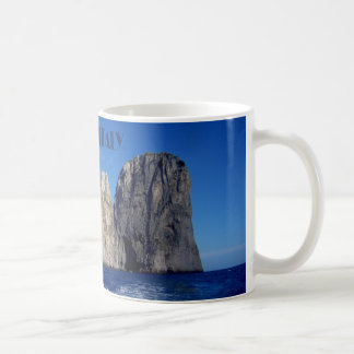 Faraglioni stacks, Isle of Capri - Naples - Italy Coffee Mug