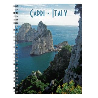 Faraglioni Stacks, Isle of Capri - Naples - Italy Note Book
