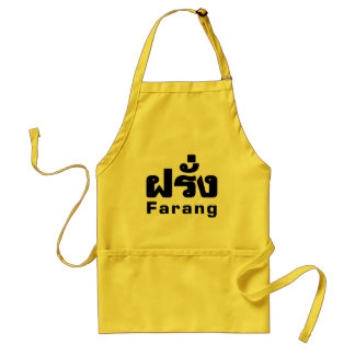 Farang ♦ Foreigner in Thai Language Script ♦ Standard Apron