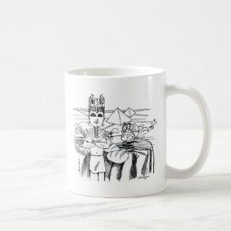 farao com mesa egito antigo basic white mug