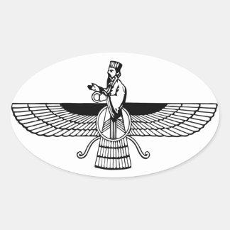 Faravahar Oval Sticker