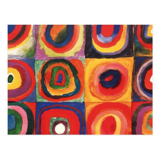 Farbstudie Quadrate - colorful art Postcards