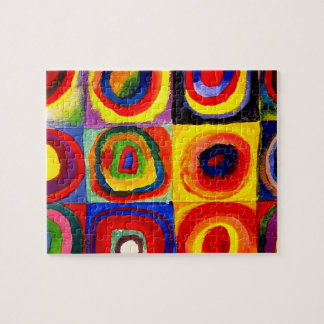 Farbstudie Quadrate Kandinsky Squares Circles Jigsaw Puzzle