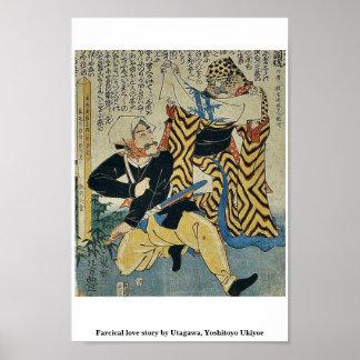 Farcical love story by Utagawa, Yoshitoyo Ukiyoe Print