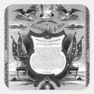 Farewell Address of General Robert E. Lee Square Sticker