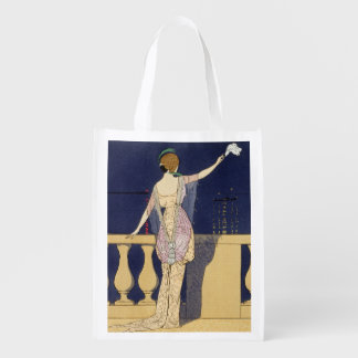 Farewell at Night, design for an evening dress by Reusable Grocery Bag