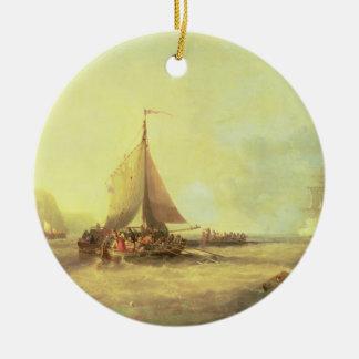 Farewell, Fair England, 1858 Round Ceramic Decoration