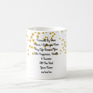 Farewell Gift Colleague Friend Boss Personalized Coffee Mug
