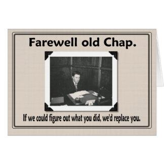 Farewell goodbye coworker greeting card