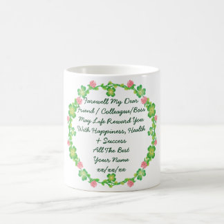 Farewell Leaving Mug Add Own Text Poem Message