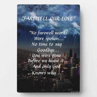 """FAREWELL OUR LOVE"" PHOTO PLAQUE BEAUTIFUL SCENERY"