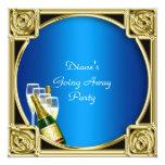 "Farewell Party Invitation Card Good Bye 5.25"" Square Invitation Card"