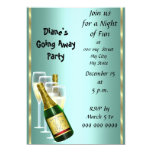 "Farewell Party Invitation Card Good Bye 5"" X 7"" Invitation Card"