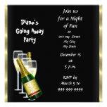 Farewell Party Invitation Card Good Bye Black Personalized Invite