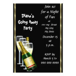 Farewell Party Invitation Card Good Bye Black Card