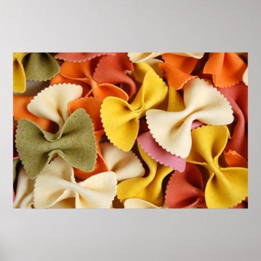 farfalle pasta poster