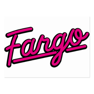 Fargo in magenta business cards
