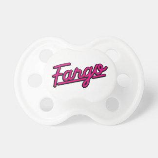 Fargo in magenta baby pacifier