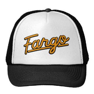 Fargo in orange trucker hat