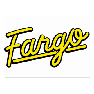 Fargo in yellow business card template