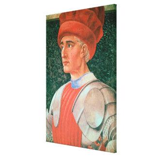 Farinata degli Uberti, detail of his bust, from th Canvas Print