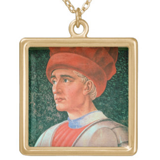 Farinata degli Uberti, detail of his bust, from th Gold Plated Necklace